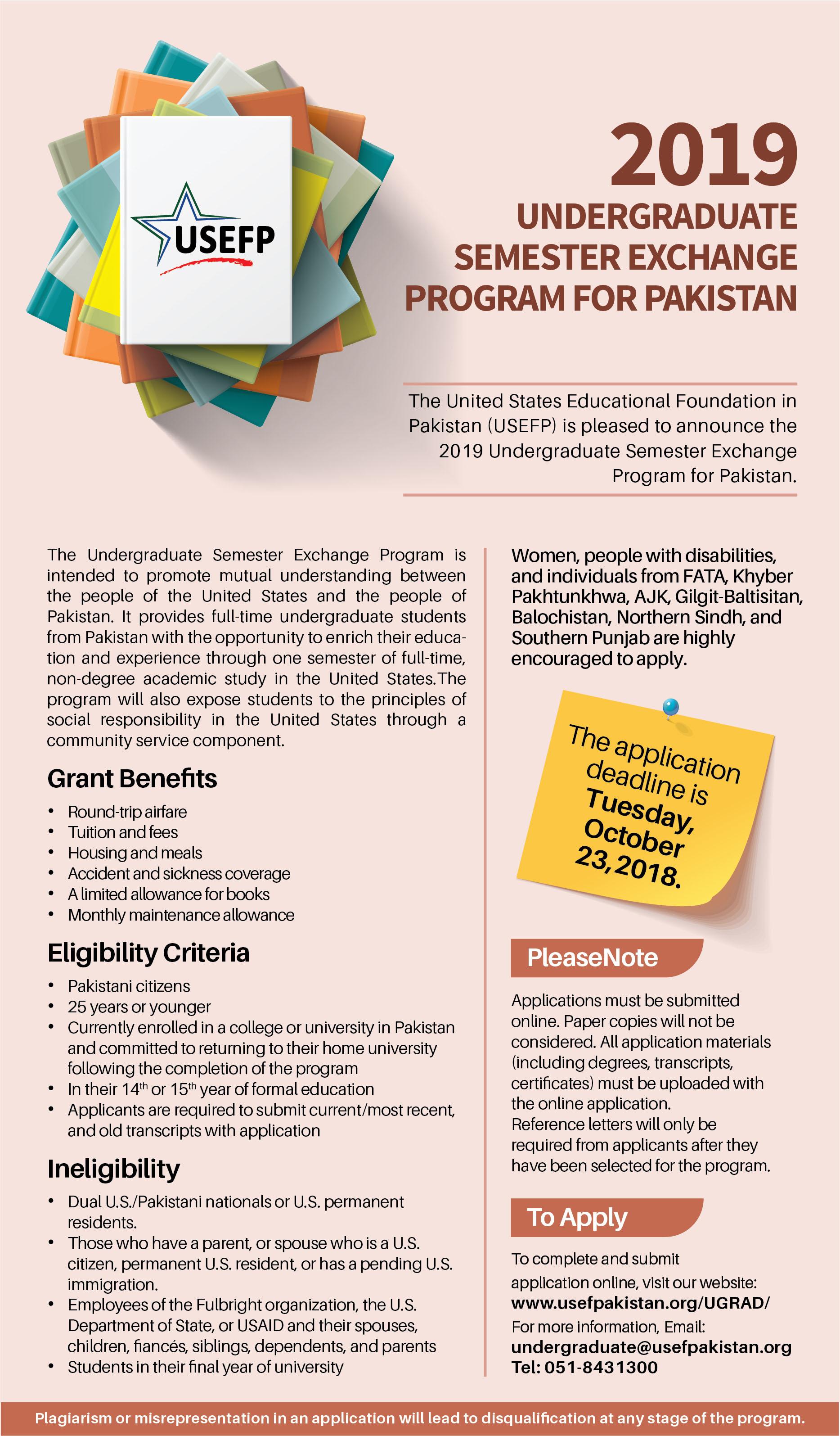 Usefp Global Undergraduate Program Ugrad